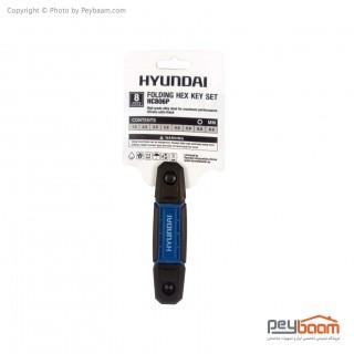 مجموعه 8 عددی آچار آلن هیوندای HC806P