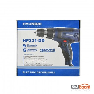 دریل پیچ گوشتی هیوندای مدل HP231-DD