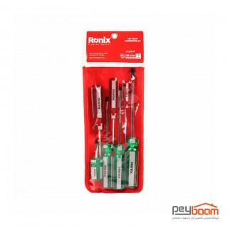 مجموعه 7 عددی پیچ گوشتی رونیکس مدل RH-2701