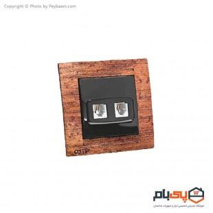 پریز تلفن دو سوکت ثابت الکتریک مدل پاور