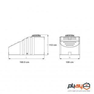 مخزن زیر پله ای طبرستان حجم 1500 لیتر مدل 1531401