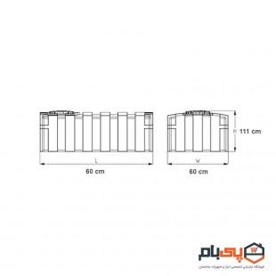 مخزن مکعبی عمودی طبرستان حجم 300 لیتر مدل 1431172