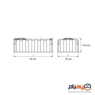مخزن مکعبی عمودی طبرستان حجم 500 لیتر مدل 1431251