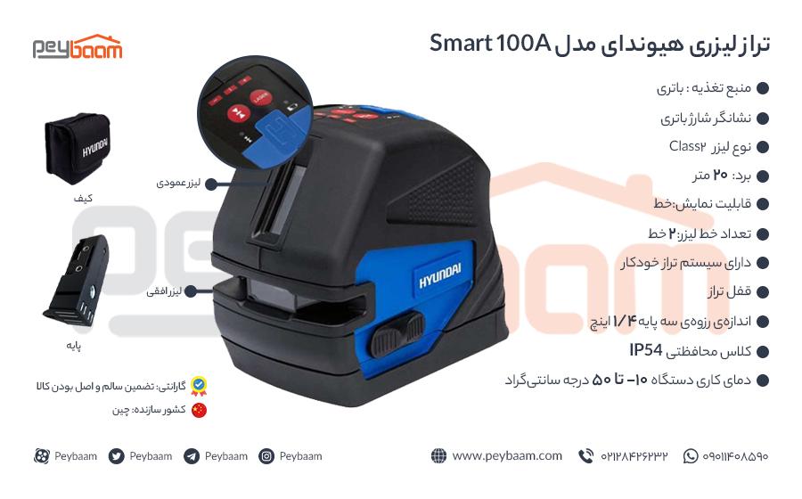 اینفوگرافی تراز لیزری هیوندای مدل smart 100A