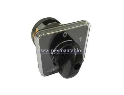 کلید سلکتور (گردان) تک فاز ، یکطرفه ، 25 آمپر ، TRS