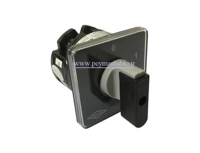 کلید سلکتور (گردان) دو فاز ، یکطرفه ، 25 آمپر ، KAVEH