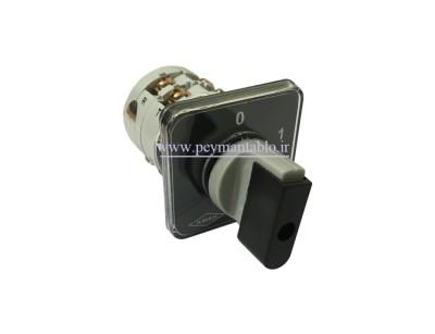 کلید سلکتور (گردان) سه فاز و نول (چهار پل)، یکطرفه ، 16 آمپر ، KAVEH
