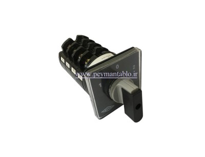 کلید سلکتور (گردان) سه فاز و نول (چهار پل)، دو طرفه ، 40 آمپر ، KAVEH