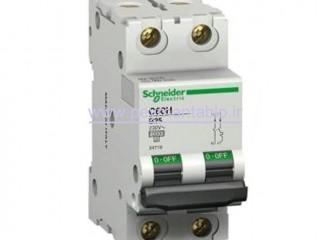 کلید مینیاتوری (mcb) دو پل / دو فاز 10 آمپر Schneider electric
