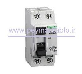 کلید محافظ جان (تک پل + نول) 25 آمپر Schneider electric