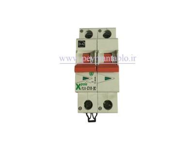 کلید مینیاتوری جریان مستقیم (DC) دو پل در آمپر های 6 تا40 آمپر F&G