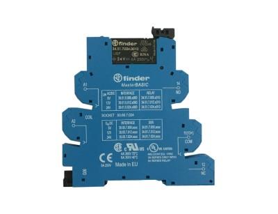 رله PLC) 24 V DC/AC) یک کنتاکت (Finder(34.51