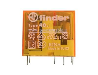 رله مینیاتوری 230 ولت AC دو کنتاکت (بدون پایه) (40.52)Finder