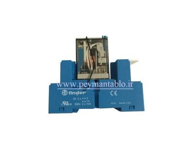 رله فیندر 110 ولت DC چهار کنتاکت (Finder(55.34