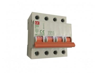 کلید مینیاتوری (mcb) چهار پل / سه فاز+نول 40 آمپر ، LS
