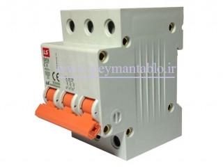 کلید مینیاتوری (mcb) سه پل / سه فاز 6 آمپر ، LS