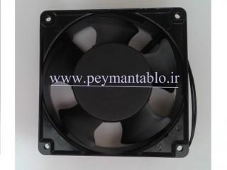فن تابلوئی 12 ولت DC به ابعاد (8*8) سانتیمتر (دوسیمه)