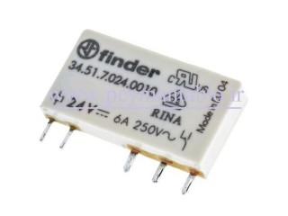 رله مینیاتوری 24 ولت PLC) DC) تک کنتاکت (بدون پایه) Finder
