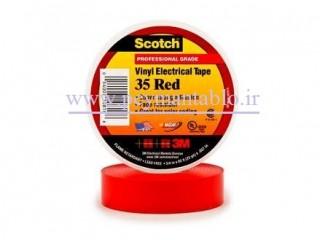 نوار چسب برق 3M Scotch 35 آمریکا (اصلی) رنگی
