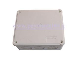جعبه تقسیم برق (درب پیچ خور) پلاستیکی 5.5*10*15