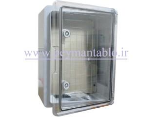 تابلو پلاستیکی (ABS) درب شفاف (20*40*30) با World-Plast IP65