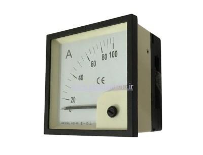 آمپرمتر تکی (1000-0) آمپر آنالوگ عقربه ای(ابعاد 96 * 96) BEW