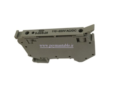 ترمینال فیوز خور چراغدار RAAD (RFT5-LD) 110/220V