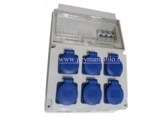 جعبه پریز کارگاهی تک فاز(IP66) آمپراژ 16 (PARSA)