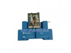 رله فیندر 125 ولت DC چهار کنتاکت (Finder(55.34