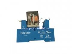 رله فیندر 110 ولت AC چهار کنتاکت (Finder(55.34