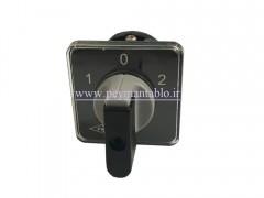 کلید سلکتور (گردان) دو فاز ، دو طرفه ، 16 آمپر ، TRS