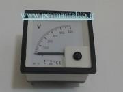 ولت متر تکی 500-0 ولت آنالوگ عقربه ای (سایز 72 * 72) BEW