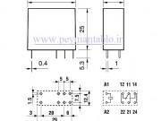 رله مینیاتوری 230 ولت AC یک کنتاکت (بدون پایه) (40.61)Finder