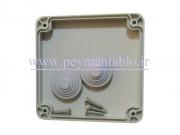 جعبه تقسیم برق (درب پیچ خور) پلاستیکی World-Plast 11*11*7