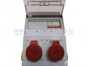 جعبه پریز کارگاهی تک و سه فاز (IP66) آمپراژ 32 آمپر (PARSA)