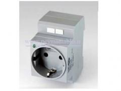 پریز تک فاز (ریلی) چراغدار (LED) ولتاژ 250 ولت 16 آمپر RAAD