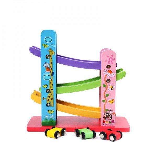 ماشین بازی کودک با ریل مدل 8186