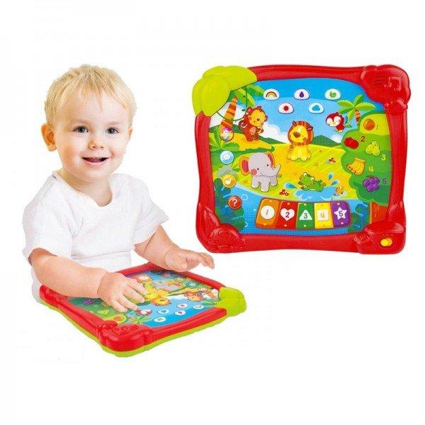اسباب بازی آموزشی تبلت موزیکال کودک  طرح جنگل Winfun مدل 002513