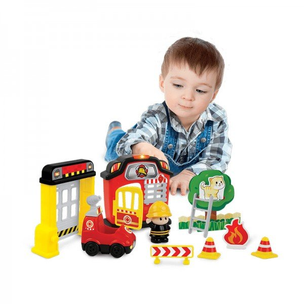 اسباب بازی موزیکال کودک طرح آتش نشان  با آدمک winfun  مدل 001307