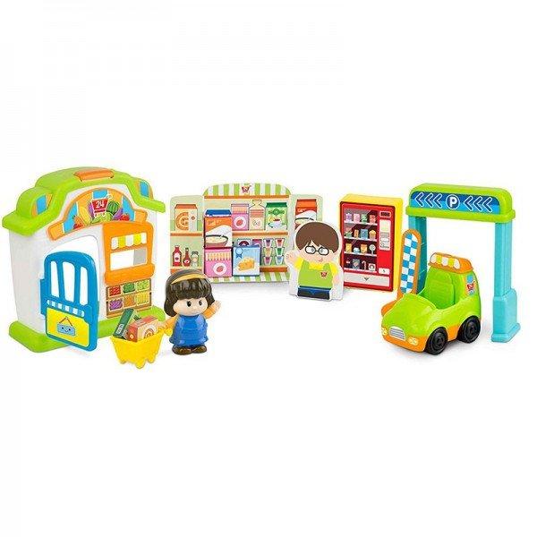 اسباب بازی موزیکال کودک طرح سوپرمارکت با آدمک winfun  مدل 001308