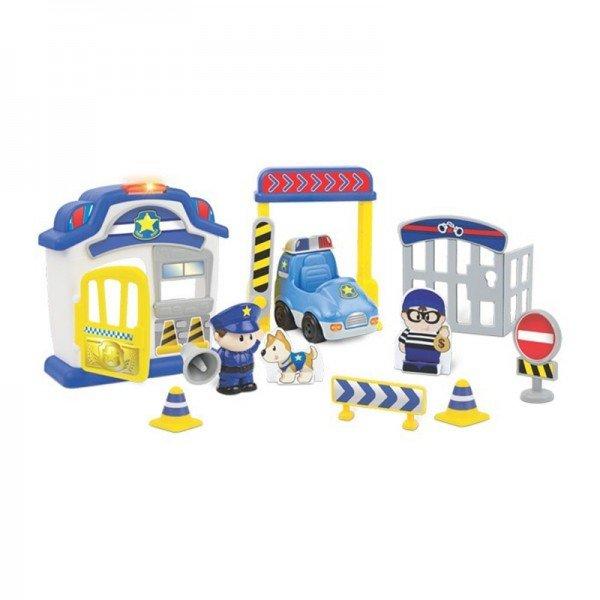 اسباب بازی موزیکال کودک طرح ایستگاه پلیس با آدمک  winfun مدل 001306