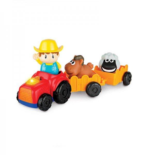 تراکتور اسباب بازی کودک با حیوانات winfun مدل 001304