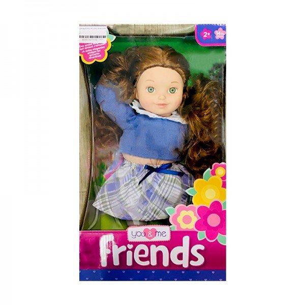 عروسک زیبا با لباس بافت آبی مدل 61346