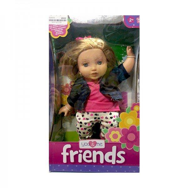 عروسک زیبا با لباس جین مدل 61346