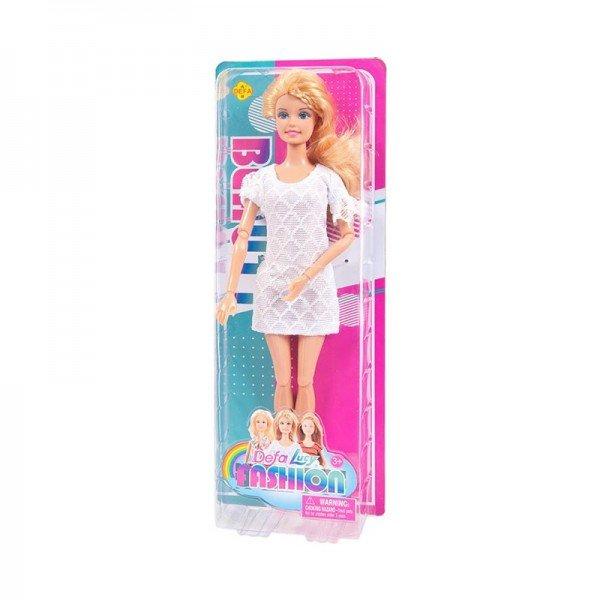 عروسک باربی دفا با لباس سفید مدل 8406
