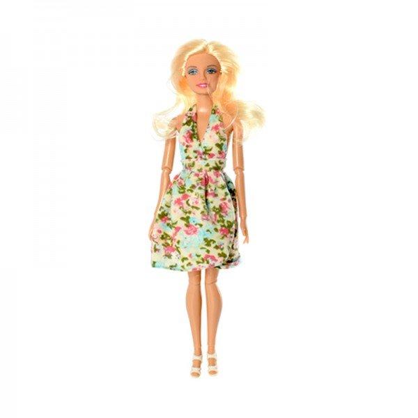 عروسک باربی دفا با لباس گلدار مدل 8406