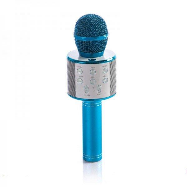 میکروفن اسباب بازی اسپیکر دار آبی مدل 858