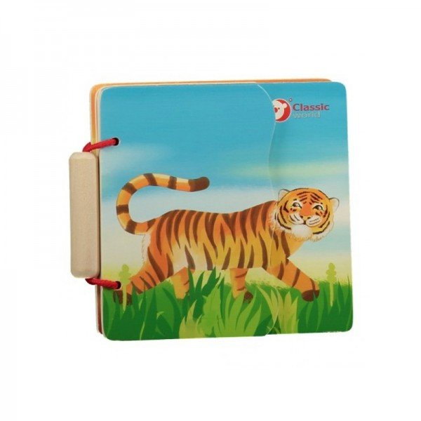 کتاب چوبی کودک خانواده حیوانات classic World مدل 3574