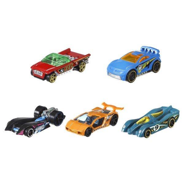 ماشین اسباب بازی کوچک 5 عددی Hot Wheels مدل 1806