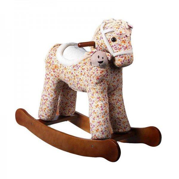 راکر کودک چوبی طرح گل ویکتوربا عروسک
